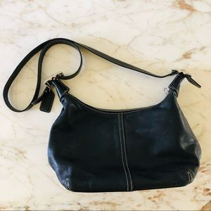 COACH Black Leather Small Shoulder Bag